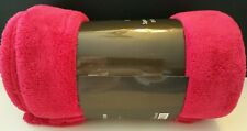 "Plush Blanket/Bed/Couch Throw 50"" X 60""Large Luxurious Rich Fuscia Soft New"