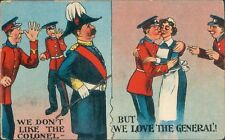 Postcard WW1 Comic Card We Don't Like The Colonel Unposted