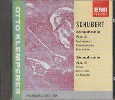 C.D.MUSIC  E316   SCHUBERT  SYMPHONIE No8 / SYMPHONIE No9 , KLEMPERER    CD