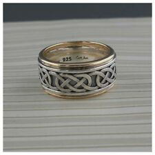 Sterling Silver & 10K Celtic Love Knot Wedding Ring KEITH JACK Size 8.5 or 9.5