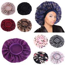 Women Satin Silk Night Sleep Cap Hat Floral Hair Bonnet Head Band Wrap Oversized