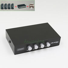 Manual 4 Port USB Sharing Switch Box Key-Press Switcher 4 Computers to 1 Printer