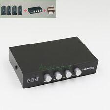 Manual 4 Port USB Sharing Switch Box Key-Press Switcher 4 Computers to 1 Printer