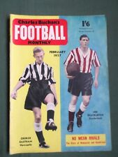 CHARLES BUCHAN'S- FOOTBALL MAG - JAN 1957 - LEN SHACKLETON - TOMMY YOUNGER