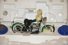 FRANKLIN MINT Harley Davidson 1958 Duo Glide - never unpacked Green White 1:10