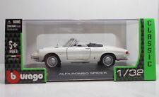 "Bburago 43210 Alfa Romeo Spider ""White"" - Metal Scala 1:32"