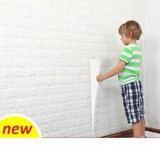 77cmx70cm Espuma PE Blanco 3D Auto-Adhesivo Pegatina de pared de ladrillo Hazlo tú mismo Papel tapiz de paneles