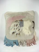 Southwestern Throw Pillow Bears in Suede and Fur