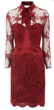 New KAREN MILLEN Burgundy Red Lace Dress BNWT DM223 Size 16