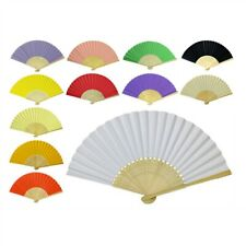 "PAPER HAND FAN 8.25"" Color Choice GOOD QUALITY Bamboo Folding Pocket Purse NEW"