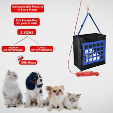 Fire Evacuation Carrier for Kids Or Pets - 2 Sizes & Rope - Emergency Escape Bag