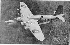 WWII Large (8.25 x 5.25) Photo Image- Airplane- British- Sunderland Seaplane