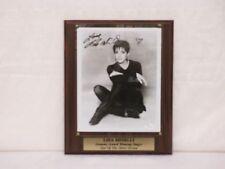 Liza Minelli Signed 8X10 Grammy Award Singer With Plaque & Name Plate JSA I58779