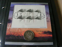 2000 MILLENNIUM TIMEKEEPER £5 COIN FIRST DAY COVER FDC