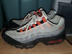 Men's Nike Air Max 95 Team Orange Size 11 609048-184 Pre Owned Authentic