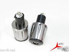 Gris Aleación CNC Manillar Tapas Extremo de anodizado 22mm 2.2cm YZF R125 R6