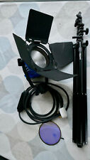 Arri 600 Arrilight with Sachtler tripod, scrim, dichroic filter and spare bulb
