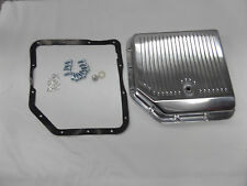 Chevy Gm Finned Polished Aluminum Transmission Pan Th350 Turbo 350 Trans Th 350