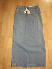 Denim Patternless Tall Skirts for Women