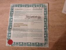 ROLEX ladys 18ct Datejust  69278 Guarantee Papers 1983 Spain