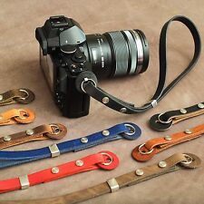 "The 1901 ""Caradog"" Leather Camera Wrist Strap - Old Collodion Brown"