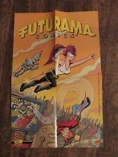 Poster Futurama Comics Bongo Verlag 2001 - mit Bender, Leela, Philip J. Fry