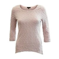 Ex New Look Pink Boucle Knitted Top Sweater Sweatshirt Jumper Size 8 10 12 14