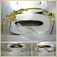 Men or Women VINTAGE RETRO Style Clear Lens EYE GLASSES Gold Metal Fashion Frame