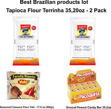 Brazilian Tapioca Da Terrinha + Ground Peanut Candy +Seasoned Cassava Flour