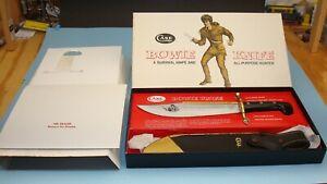 1970s CASE XX USA 1836 BOWIE HUNTER SURVIVAL KNIFE W/ SCABBARD ORIGINAL BOX