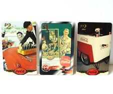 COCA COLA Drei verschiedene TELEFONKARTEN aus 1996/97 RAR!!! Sammlerstücke!! V3