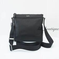 Michael Kors New Men's Cooper Messenger Crossbody Bag Zip Top Leather Black $248