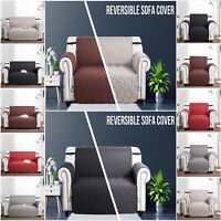 Quilted Sofa Covers 1/2/3 Seater Furniture Protector Throw Waterproof Slip Cover