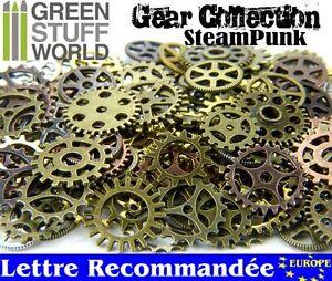 Steampunk Set 85 gr - Rouages et Engrenages mixtes - Taille-M - Scrapbooking