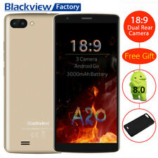 Blackview A20 NUOVO CELLULARE 3G Smartphone 5.5''HD QuadCore 3-Samsung Camera EU