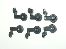 LOT OF 6 WHEELIE BAR WHEELS WITH BRACKETS FITS 1:24 AND 1:18 SCALE CARS TRUCKS