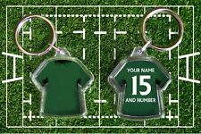 IRELAND personalised rugby shirt keyring. Your own name and number World Cup