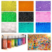 500 WATER AQUA SOIL CRYSTAL BIO GEL BALL BEADS WEDDING VASE FILLER DECOR UK