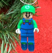 Nintendo Super Mario Bros Luigi Minifigure Custom Lego Christmas Tree Ornament