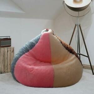 Multi Colorful Bean Bag cover Fur Bean Bag Sofa Without Beans (3XL) for Kids