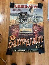 David Blaine Buried Alive Poster Original