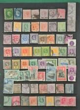 CEYLON STAMP SELECTION ON LARGE STOCK CARD (N22)