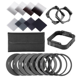 Square Neutral Density ND 2 4 8 16  Filter Kit for Cokin P+ Holder+Adapter Rings