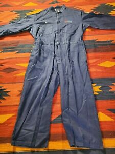 Coveralls Contractor Flame Resistant Navy 54R HRC 1 (ATPV) 7.7 Made In Usa