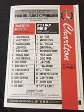 Reserves Teams C-E Charlton Athletic Football Programmes