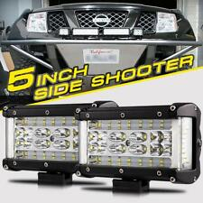 "2X 6"" Side Shooter CREE LED Light Bar Pods Offroad Truck For Jeep Ford Chevy Ram"
