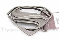 """Superman Vintage Officially Licensed """"S"""" Symbol Metal Fashion Belt Buckle"""