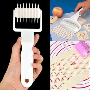 Kitchen Baking Pie Pizza Bread Pastry Tool Lattice Roller Cutter Rolling New