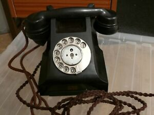 telephone vintage style /old classic  retro/ black