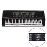 54/61/88 Key Electronic Note Sticker Piano Transparent Piano Keyboard Sticker